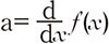 a=d/dxf(x)